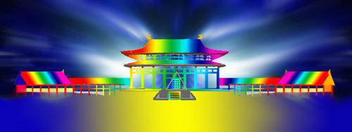虹寺院放射背景海a.jpg